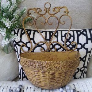 FARMHOUSE Rustic WALL PLANTER INDOORS or OUT OH MY